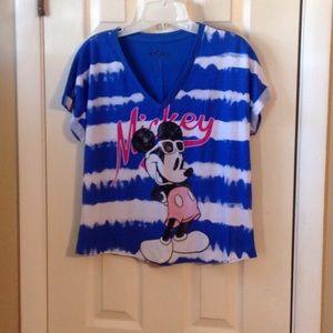 Disney blue/white stripe sleep tee Sz: XS